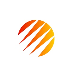 abstract round arrow technology logo vector image