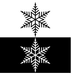 black and white snowflakes vector image vector image