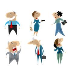 businessmen and businesswomen vector image