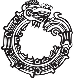 aztec maya dragon - great for tatto art vector image