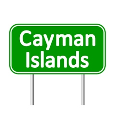 Cayman Islands road sign vector image