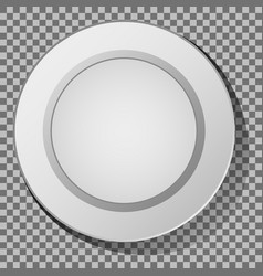 ceramic plate vector image vector image