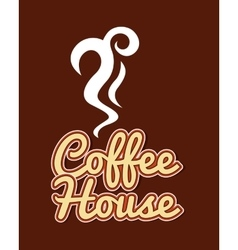 coffee cup house isolated icon vector image