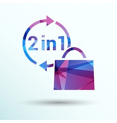 Numbers set modern style vector image vector image