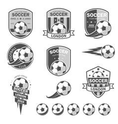 Set of football logos vector image vector image