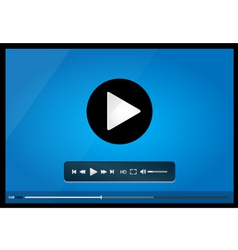 Video player for web minimalistic design vector image vector image