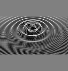 white wave on black background vector image