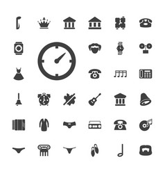 33 classic icons vector
