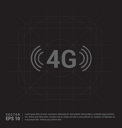 4g connection icon vector