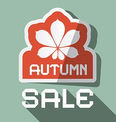 Autumn Sale Flat Design with Chestnut Leaf vector
