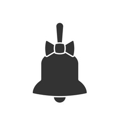 bell with bow icon vector image