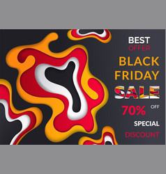 black friday final discounts sale poster vector image