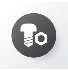 Bolt with nut icon symbol premium quality vector