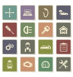 Car service simply icons vector