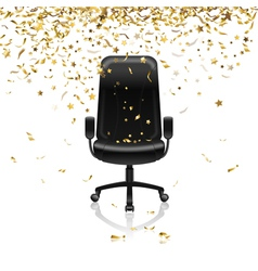 chair with confetti vector image