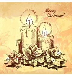 Christmas hand drawn for xmas design vector