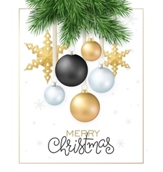 Christmas-tree branch with vector image