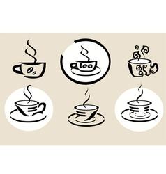 coffe tea menu vector image
