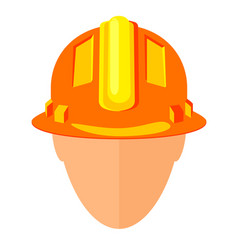 colorful cartoon construction worker avatar vector image