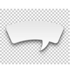 Comics bubble volume square transparent background vector