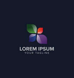 creative color leaf logo concept design templates vector image