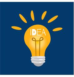creative idea in light bulb shape as inspiration vector image