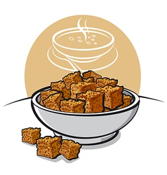 croutons vector image