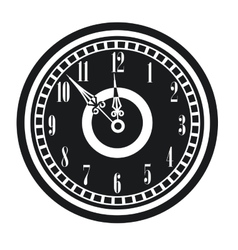 Dark vintage clock timer midnight new year vector