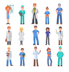 different doctors people doctoral vector image
