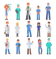 Different doctors people doctoral vector