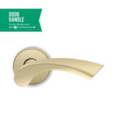 door handle realistic classic element vector image