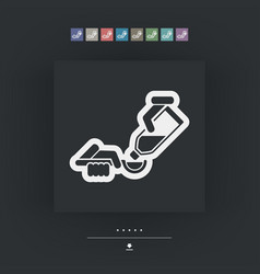 Dose syrup icon vector
