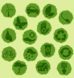 Eco buttons vector