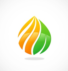 Eco swirl water drop symbol logo vector