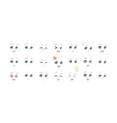 emotions eyes of anime manga girls vector image