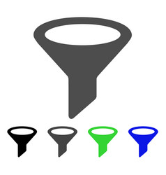 Filter flat icon vector