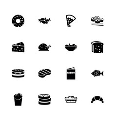 food - flat icons vector image