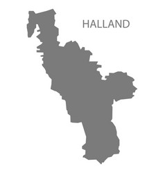 Halland sweden map grey vector