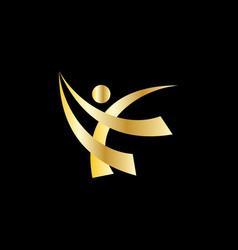 happy people sport logo vector image