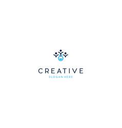 Human people lab science creative technology logo vector
