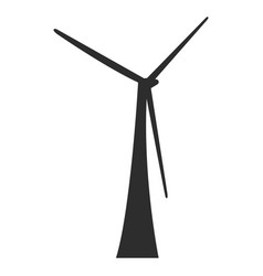 isolated windwill silhouette vector image