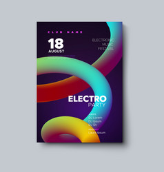 lectronic music festival flyer vector image