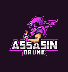 Logo assassin e sport and sport style vector