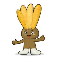 mascot a kaempferia vector image