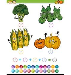 Mathematical exercise cartoon vector