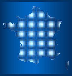 Matrix map france vector