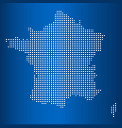 Matrix map of france vector