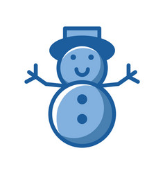 merry christmas snowman cute character vector image