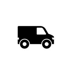 Minibus van mini bus flat icon vector