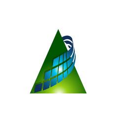 modern triangle logo design multi color triangle vector image